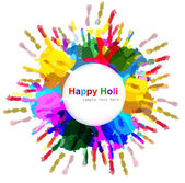 Beautiful indian holi colorful card celebration background illus — Stok Vektör