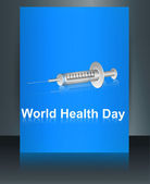 World health day brochure syringe reflection template colorful m — Stock Vector