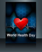Vector llustration World health day brochure template of heart b — Stock Vector