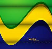 Hermosa ola Brasil bandera concepto fondo colorido vector — Vector de stock