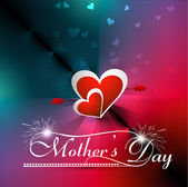 Beautiful heart concept mother's day colorful card background ve — Stock Vector