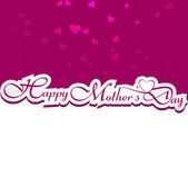 Beautiful card happy mother's day text colorful vector design — Stock Vector