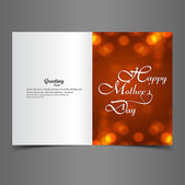 Mother's day greeting card presentation colorful text background — Stock Vector
