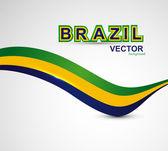 Beautiful Brazil flag wave concept colorful whit background vect — Stock Vector