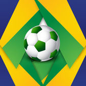 Soccer background colorful brazil flag concept stylish vector — Stock Vector