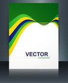 Brazil flag reflection brochure concept creative business templa — Stock Vector