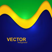 Brazylia flaga kolory stylowe fala kolorowy koncepcja na białym tle na whi — Wektor stockowy
