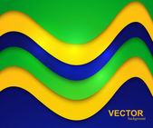 Brazil flag colors wave concept colorful vector illustration — Stock Vector