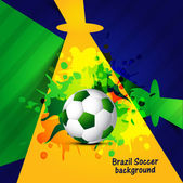 Beautiful Brazil colors concept creative colorful soccer ball ba — Stock Vector