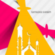 Mosque ramadan kareem creative concept colorful vector design — Stock Vector