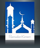 Mosque ramadan kareem concept for muslim community brochure temp — Stockvektor