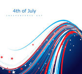 4th of july american independence day flag creative wire celebra — Stock Vector