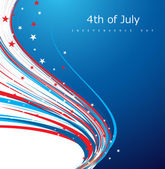 4th of july american independence day flag celebration creative  — Stock Vector