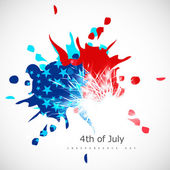 American Independence Day grungy background in American Flag col — Stock Vector