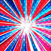 4th of july american independence day flag celebration swirl wav — Stock Vector