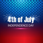 4th of july United States of America beautiful background vector — Stock Vector