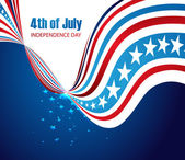 Abstract design american independence day creative stylish wave  — Stock Vector