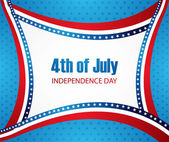 American independence day 4th of july fantastic wave background  — Stock Vector