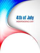 4 juli Amerikaanse onafhankelijkheidsdag stijlvolle mooie Golf vec — Stockvector