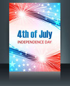 4th july american independence day template brochure reflection  — Stock Vector