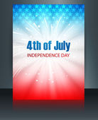 Beautiful brochure 4th july american independence day template v — Stock Vector