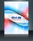 4th july american independence day brochure template celebratio — Stock Vector