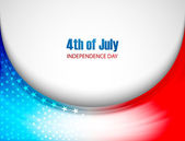 Beautiful American Flag 4th of july stylish wave background vect — Stock Vector