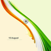 15th of August Indian Independence Day celebrations for stylish — Stock Vector
