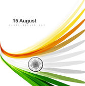 Indian flag colorul stylish design for Indian independence day v — 图库矢量图片