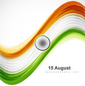 Beau drapeau indien élégant coloré vecteur d'onde — Vecteur
