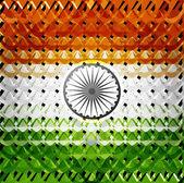 ινδική σημαία πολύχρωμο ημέρα ανεξαρτησίας υφή φόντου — 图库矢量图片