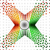 Indian Independence Day celebrations halftone dots flag vector d — Stock Vector