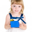 Royalty-Free Stock Photo: Girl hold gift box in hands