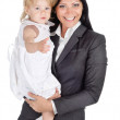 Portrait of businesswoman with her child. — Stock Photo #13833853