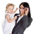 Portrait of businesswoman with her child. — Stock Photo