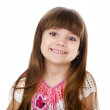 Portrait of cute smiling little girl. isolated on white background — Stock Photo
