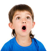 Little boy with open mouth. — Stock Photo