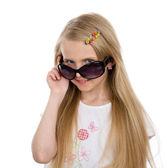 Beautiful girl in sunglasses. — Stock Photo