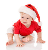 Ittle boy with Santa costume. — Stock Photo