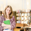 Female student in library — Stock Photo #19220463