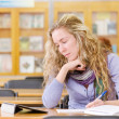Female student in library. — Stock Photo #20256939