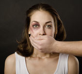 Domestic violence — Stock Photo