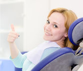 Young girl in the dental clinic — Stock Photo