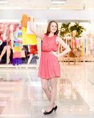 Beautiful woman with a lot of shopping bags — Photo