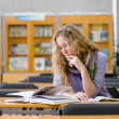 Female student in library. — Stock Photo #29444641
