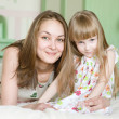 Mother and little girl having time together — Stock Photo
