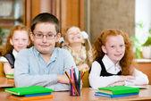 Portrait of happy school children — Stock Photo
