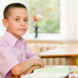 Portrait of young schoolboy  — Stock Photo