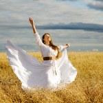 Girl on the Wheat Field — Stock Photo #33289713