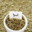 Stock Photo: Dried Basil